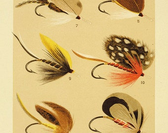 Popular items for fly on etsy for Fly fishing decor