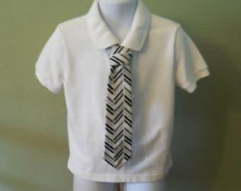 Grey and Brown Pattern Children's Tie