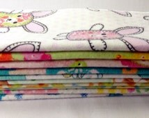Set of 20 reuseable washable cloth baby wipes, hand made cloth, bath cloth, flannel napkin, environmentally friendly cloth wipes, serviettes
