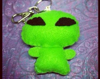 Cute alien phone charm