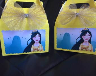 Disney Princess Mulan Birthday favor Box