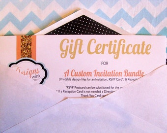Gift Certificate for A Custom Invitation Bundle