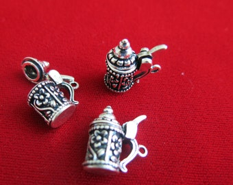 "BULK! 10pc ""German beer stein"" charms in antique silver style (BC130B)"