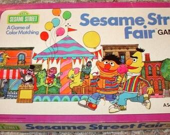 Vintage ~ Retro SESAME STREET Fair Game ~ 1976 Milton Bradley