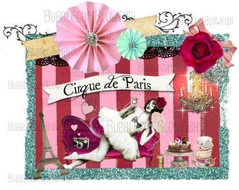 Cirque de Paris whimsical website header or blog header