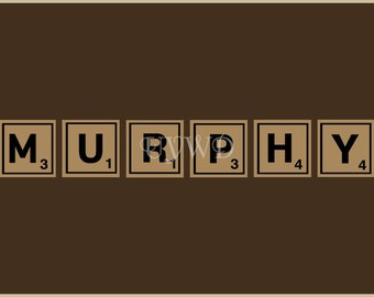 Items Similar To Sale Personalized Family Name Wall Art