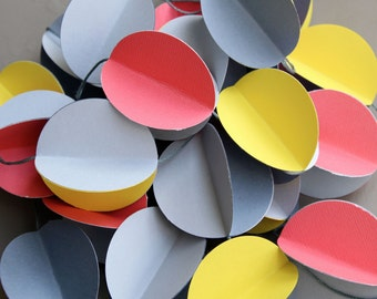 3D Paper Garland grey and fluorescent