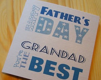 Handmade Card -Father's Day - You're The Best Grandad