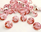 15mm Pink Buttons, Pink Fasteners, Rhinestone Style, Faceted Buttons, Diamond Shape, 15mm Acrylic Cone, UK Buttons, Needlecraft Supplies