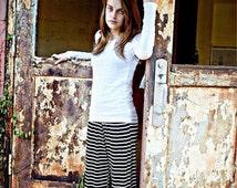 Women's Handmade Striped ruffled pants inspired by Matilda Jane.