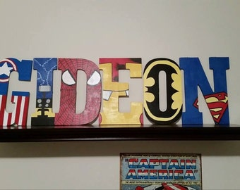 Superhero wall letters for your little superhero!