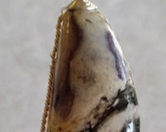 Black/purple/white Tiffany Stone Pendant