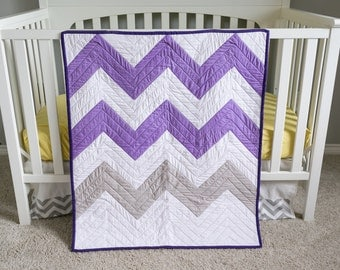 Popular Items For Purple Gray Quilt On Etsy