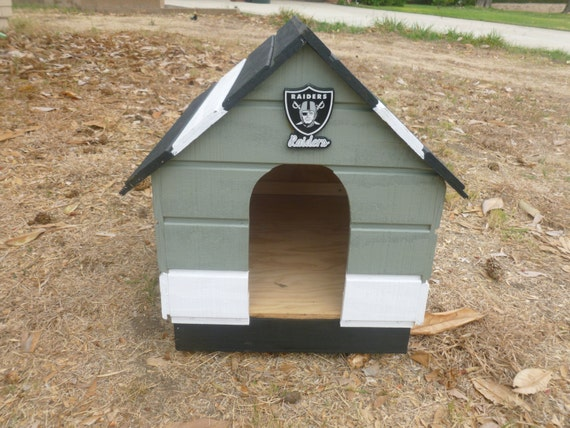 items similar to beautiful hand crafted raiders dog house on etsy - Beautiful Dog Houses
