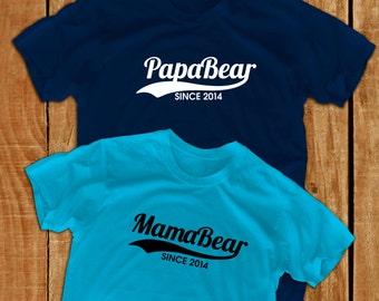 Papabear shirt Mamabear shirt papa gift daddy gift father's day mother's day gift mommy shirt dad papa shirt new dad gift