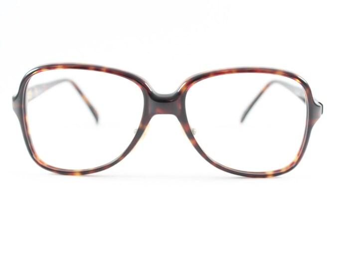 Vintage 80s Glasses | Oval Oversized Eyeglass Frame | 1980s NOS Dark Amber Tortoiseshell Eyeglasses - Sport Extra XX