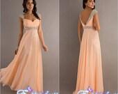2014 custom  bridesmaid dress Long Elegant Crystals Prom Dress Sweetheart Handmade Bridesmaid Dress Fashion Evening Dress Wedding Dresses