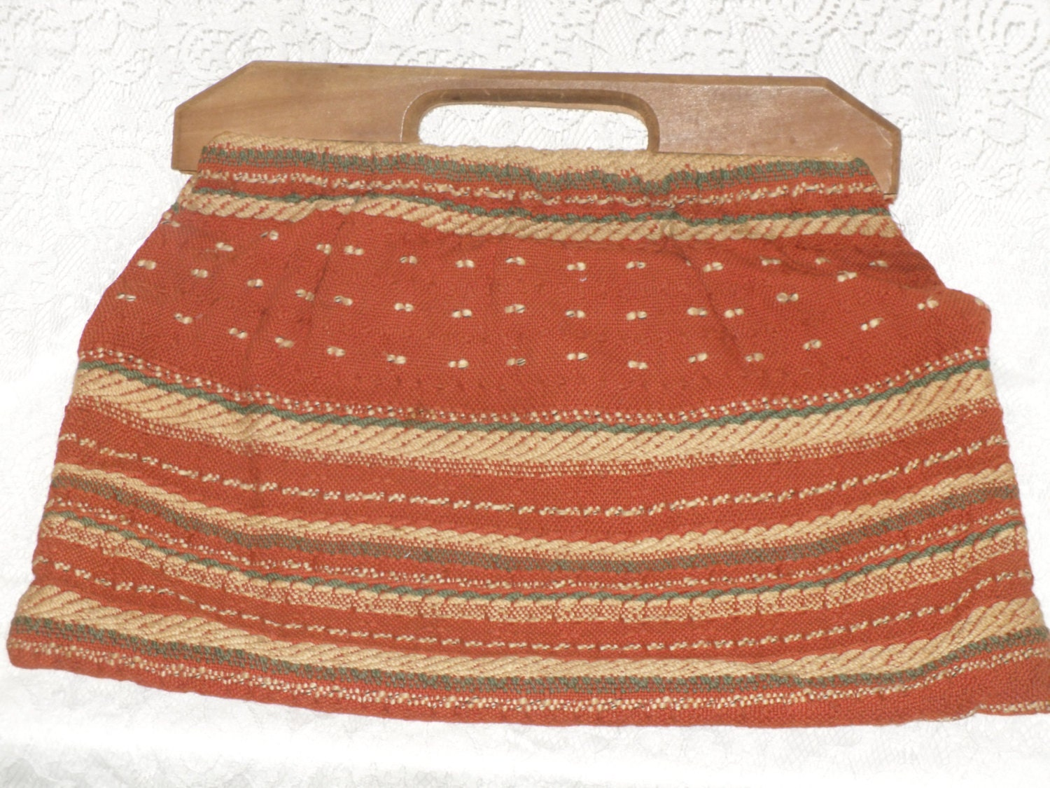 Vintage Knitting Bag : Vintage knitting sewing tote bag weave with by
