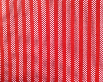 SALE  - 1 Yard of Fabric Material - Dotted Stripe