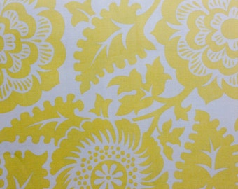 SALE - One Half Yard of Fabric Material - Large Floral Print Yellow