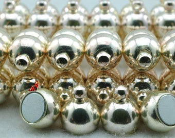 Silver plated Magnetic Clasp 8x18mm,10 set