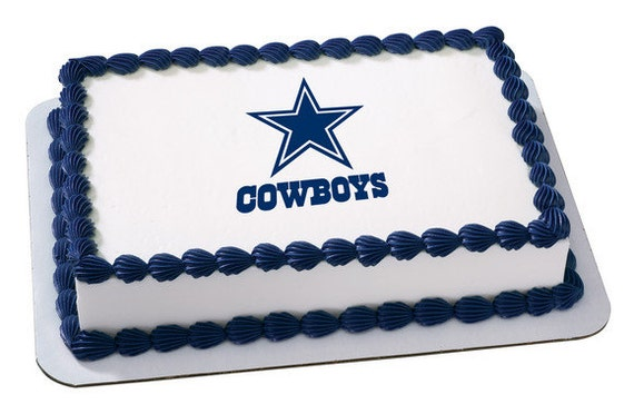 Nfl Dallas Cowboys Edible Icing Sheet Cake Decor Topper In