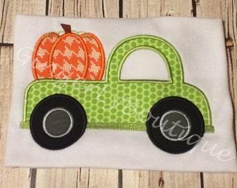 Pumpkin Truck Shirt or Bodysuit, Pumpkin Patch Shirt, Pumpkin Patch, Halloween Shirt, Boy Fall Shirt