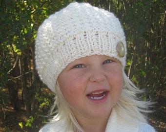 KNITTING PATTERN Hat- Beanie - Slouchy hat - Girl's Hat - Knit pattern - Knitting pattern Hat