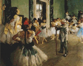The Ballet Class PDF Cross Stitch Pattern
