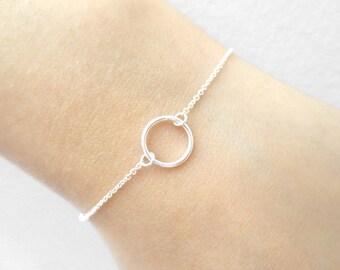 Tiny, Gold filled, Sterling Silver, 10mm, Karma, Ring, Bracelet, Modern, Minimal, Birthday, Graduation, Best friends, Gift, Jewelry