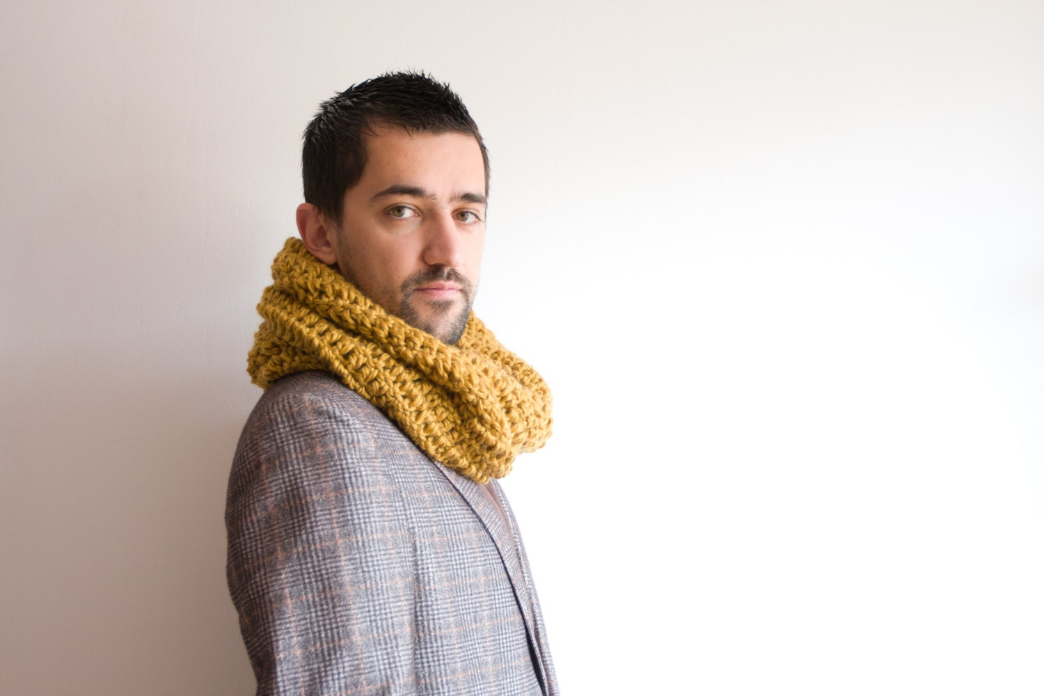 Large Infinity Scarf - Unisex, Crochet Cowl Scarf, Winter Hooded ...