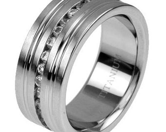 titanium mens ring elementary NK