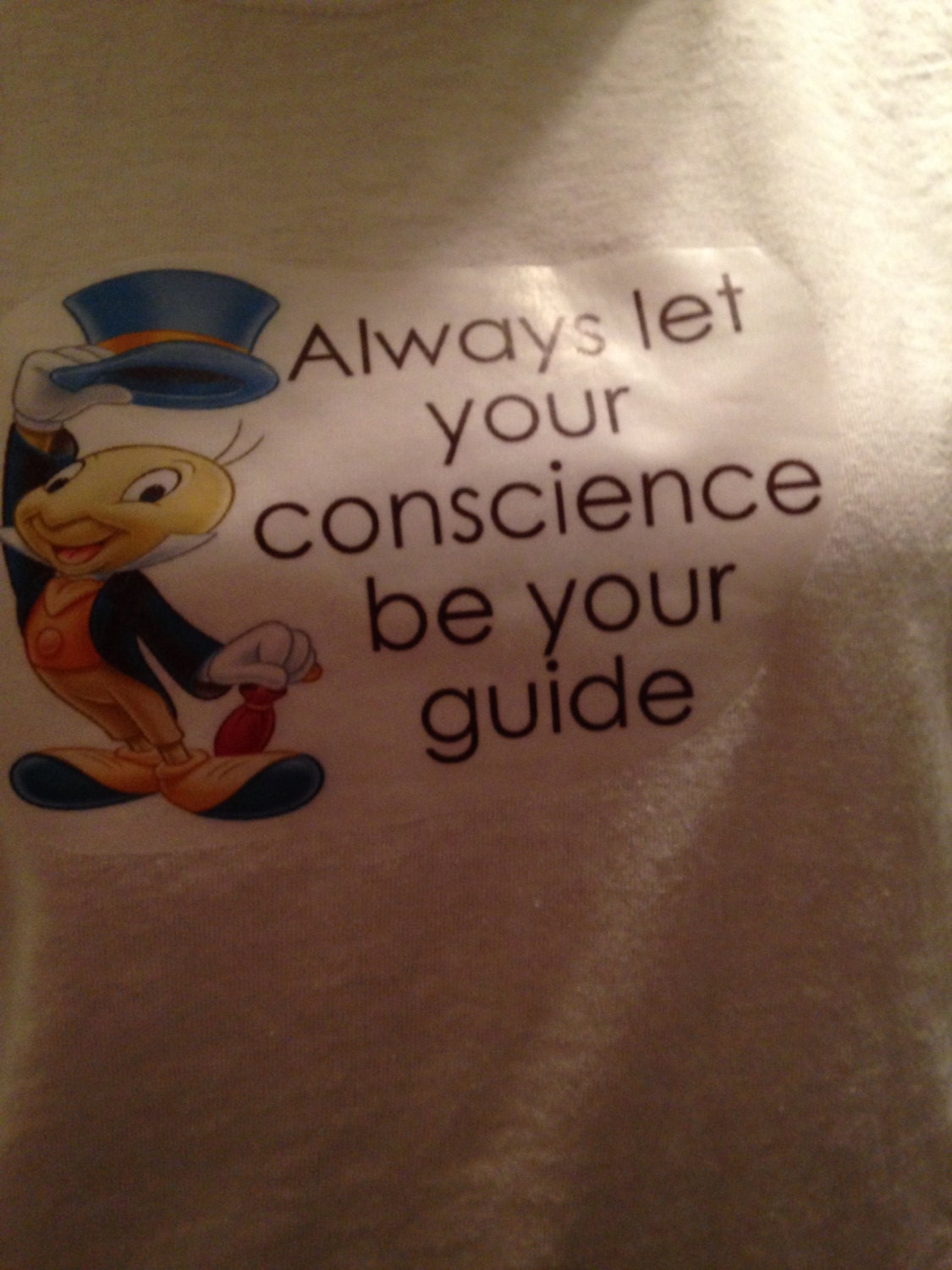 always let your conscience be your guid