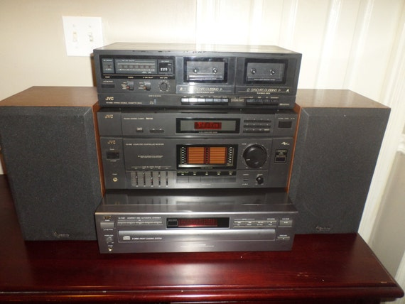 1980 S Vintage Jvc Complete Home Stereo Sound System With