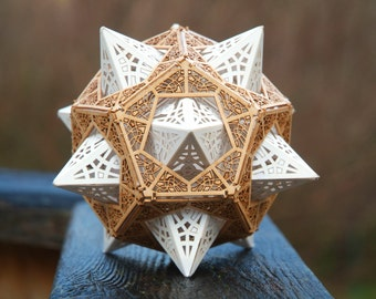 DIY Kit for Star Orb Dodecahedron - Sacred Geometry, Model Kit