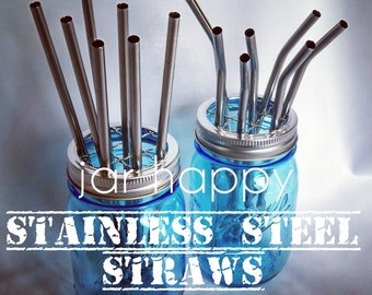 2 Stainless Steel Straws