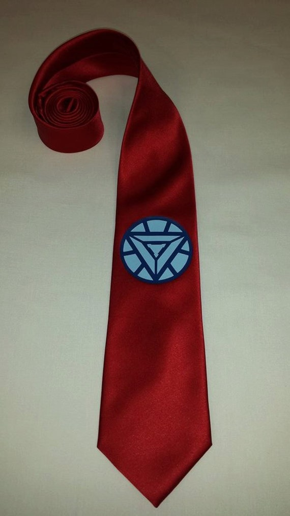 iron man mens necktie by pandorasproductions on etsy. Black Bedroom Furniture Sets. Home Design Ideas
