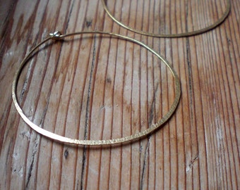 Minimal hoop earrings, brass earrings, minimal jewelry, brass accessories, perfect golden hoops