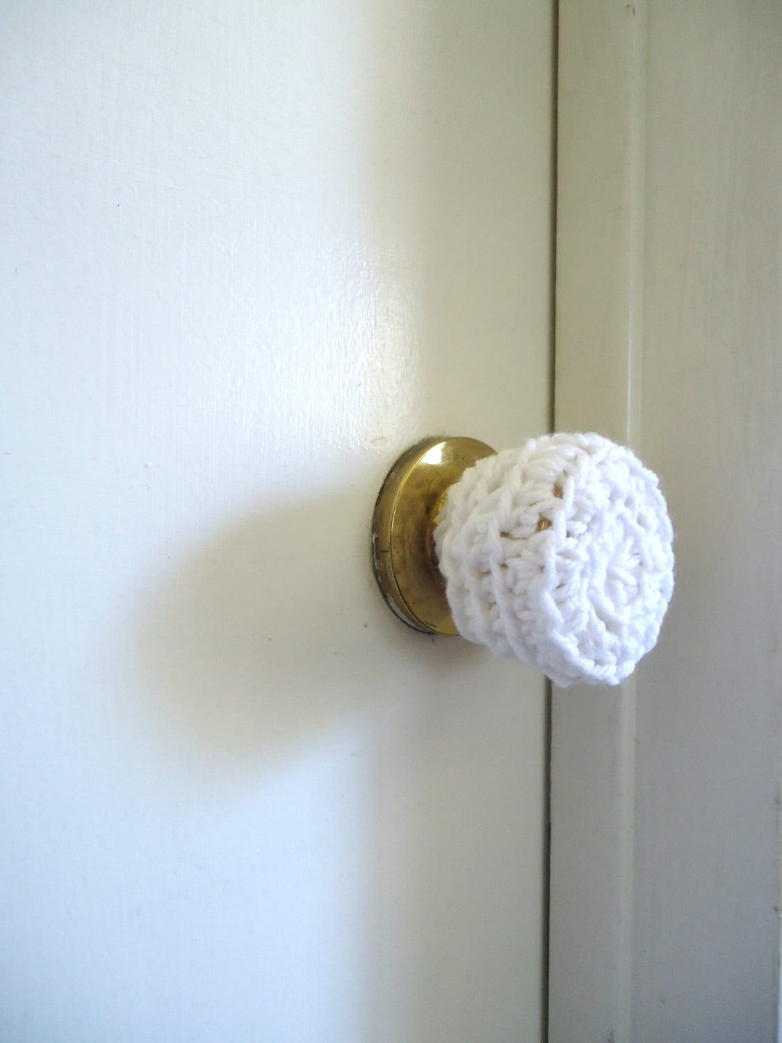 Door Knob Safety Covers : Crochet door knob cover child safety