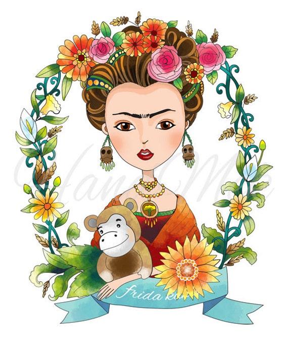 diseño personalizado especial Frida kahlo imágenes prediseñadas ...