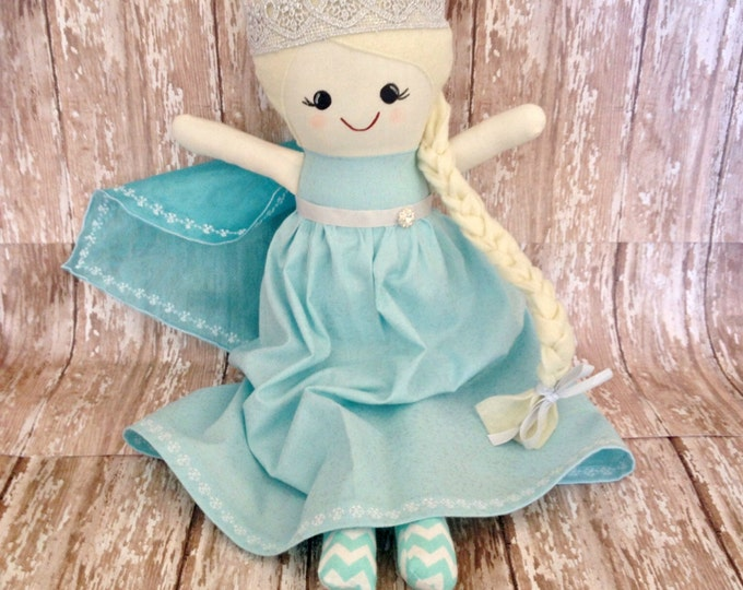 Frozen Inspired Elsa Handmade 16 inch Fabric Doll