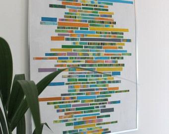 Color Bars, acrylic on cardboard, 50cm x 70cm, framed