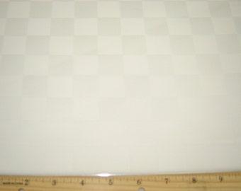 Per Yard, Jacquard Tablecloth Fabric White