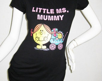 Little Ms Mummy Nursing Top for Breastfeeding / Nursing T-shirts/ NEW Original Design Maternity Clothes, Nursing Tshirt/ Free Shipping