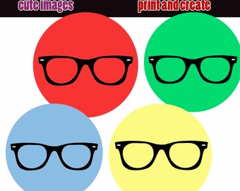 INSTANT DOWNLOAD Sunglasses 4x6 Bottle Cap Images Digital Collage Sheet for bottlecaps