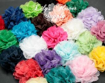 Grab Bag Chiffon Lace Flowers - Shredded lace flower - Fabric Flowers - Wholesale - Chiffon Flower Flower - DIY - You Choose Quantity