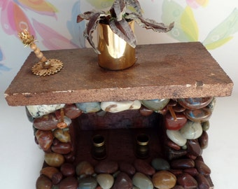 1/12 scale dollhouse fireplace.  This item is over 30 years old, and hand made