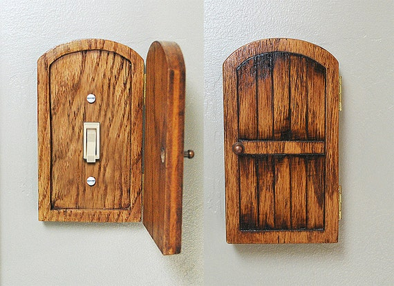 Handmade wooden rustic fairy door by brynandjeremiahs on etsy for Wooden fairy doors