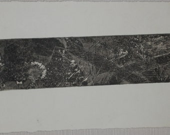 Muzy.  Softground transfer etching of dandelions.