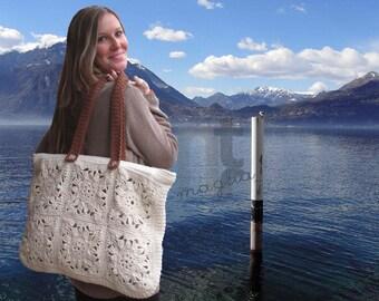 "Crochet Bag Pattern ""Borsona Varenna"" by NTmaglia, Crochet Tote Pattern, Crochet Purse Pattern downloadable .pdf file"